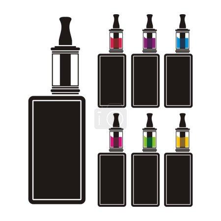 Vaping decice - colorful liquid
