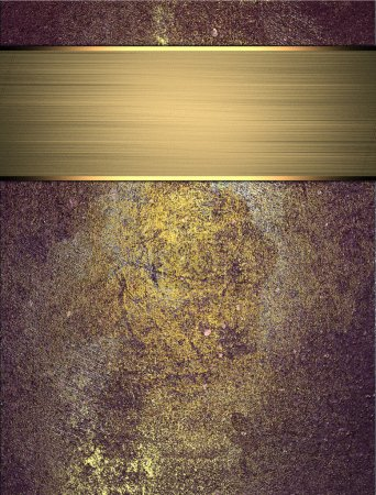 Photo for Abstract grunge gold blue texture with gold ribbon. Grunge Purple background - Royalty Free Image