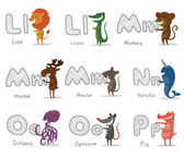 Alphabet Animals letters L-P