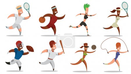 Set of sportsmens