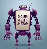 Purple big robot banner
