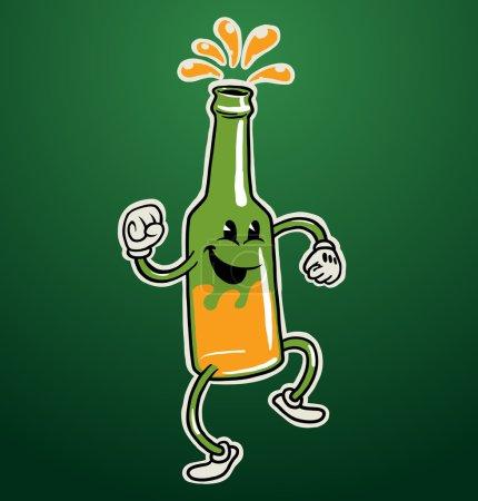 Dancing beer bottle