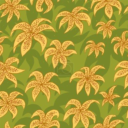 Lilies seamless pattern