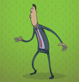 Funny businessman standing