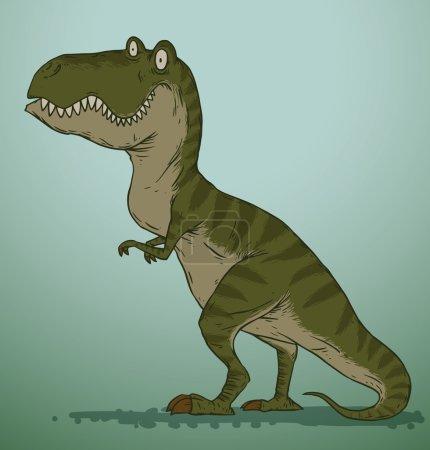 Green cute dinosaur
