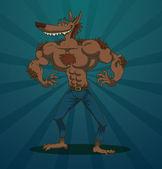 Funny macho man wolf