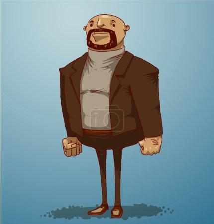 Office boss in suit