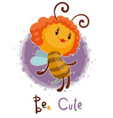 Vector illustration of girly bee cute