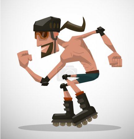 Cartoon roller man