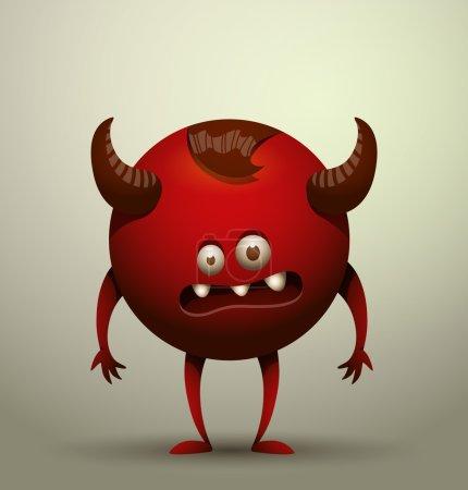Vector illustration of funny virus microbe...