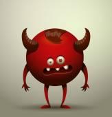 Vector illustration of funny virus microbe