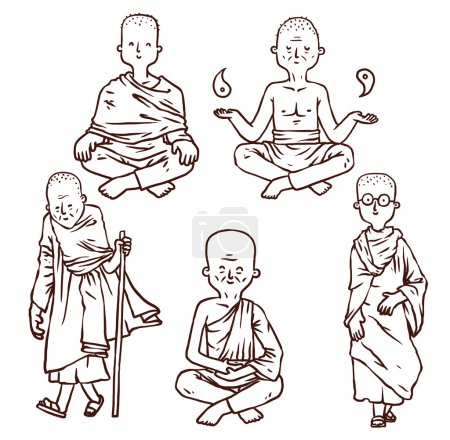 Buddhism monks set