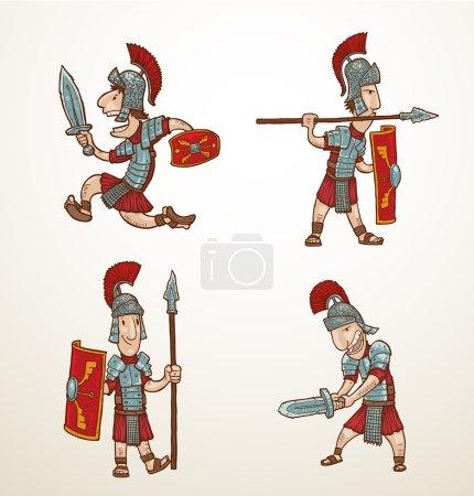 Set of Rome warriors