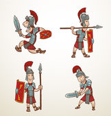 Set of Rome warriors