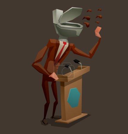 Dishonest politician concept
