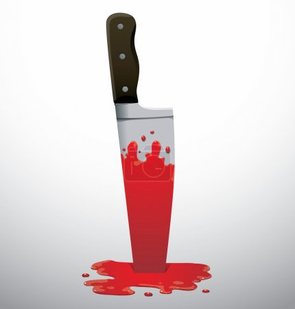 big knife in blood
