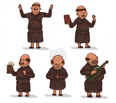 monks in brown robes