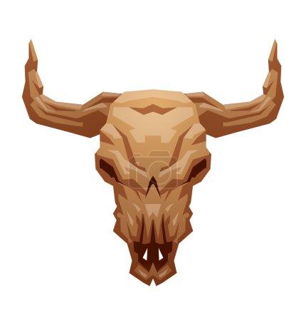 Animals skull bull