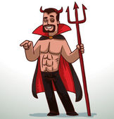 Man in Devil  costume for Halloween