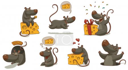 Mouse and cheese set