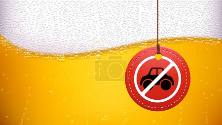 Illustration of beer background with dont drive dr...