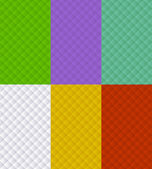Illustration of set of seamless square backgrounds different color