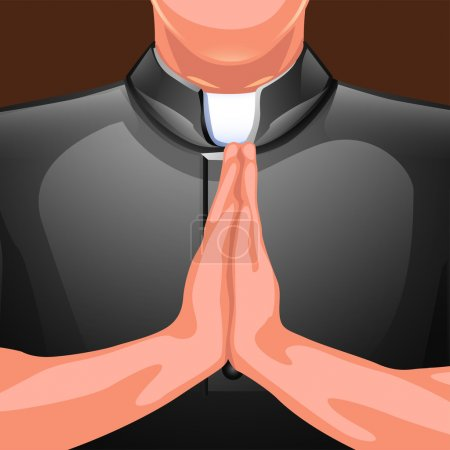 praying priest hands