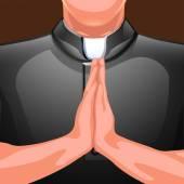 praying priest hands