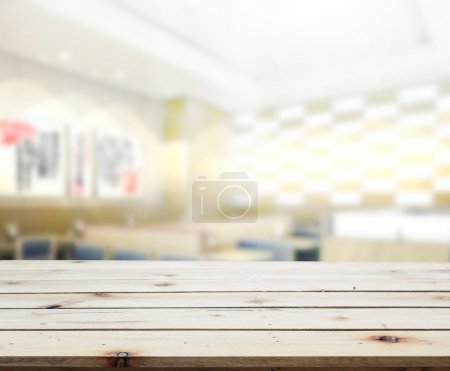 Table Top And Blur Interior Background