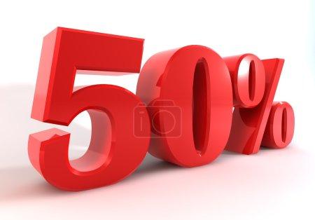 Discount 50 Percent Perspective