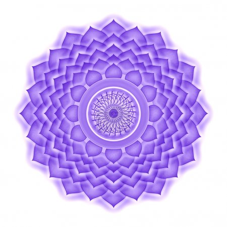 Photo pour Illustration d'un mandala de chakra . - image libre de droit