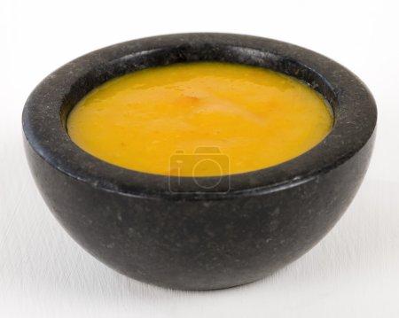 Foto de Salsa de ají amarillo, salsa de ají peruano - Imagen libre de derechos