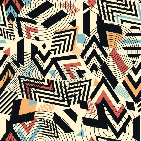 Illustration for Seamless vector geometric pattern background - Royalty Free Image