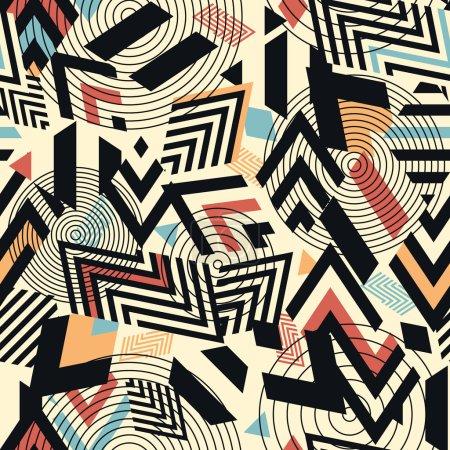 impression de fond géométrique vectorielle continue