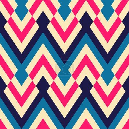 Illustration for Seamless ethnic zigzag pattern background - Royalty Free Image