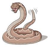 Illustration of cartoon rattlesnake isolated on white background