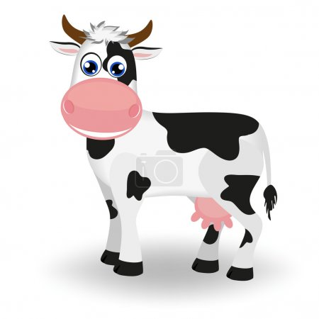 Illustration for Cute black and white cow - Royalty Free Image