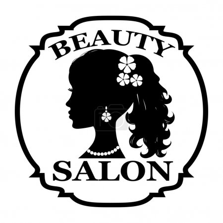 Illustration for Beauty salon logo - Royalty Free Image