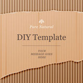 Diy template with cardboard texture background vector illustration