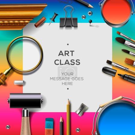 Art class template, creativity concept