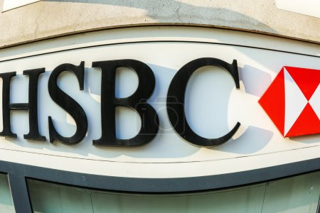 France - FEB 12: HSBC Bank on February 12 2015 in Paris, France