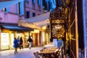 Old romantic street in Venice, Italy