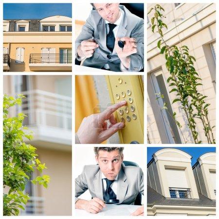 collage illustrating the real estate market