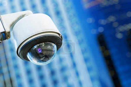 Photo pour Caméra de sécurité et de la vidéo urbaine - image libre de droit