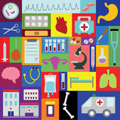 Medicine and health care illustrations set