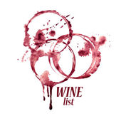 Watercolor emblem with wine stains