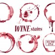 Isolated vector watercolor spilled wine glasses st...