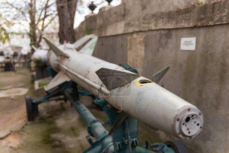 Misil antiaéreo del complejo Volna. Diseñado para la defensa colectiva de formaciones navales al repeler ataques aéreos.