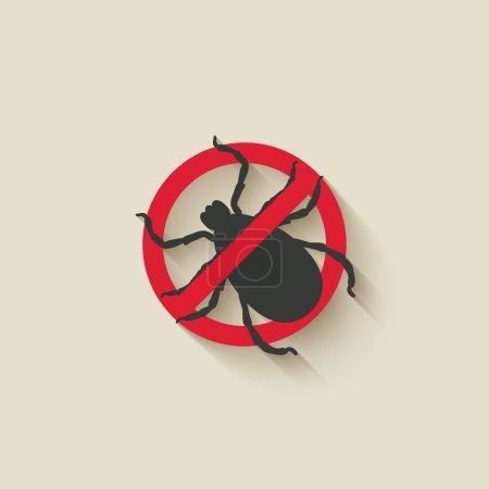 Illustration for Mite warning sign - vector illustration. eps 10 - Royalty Free Image