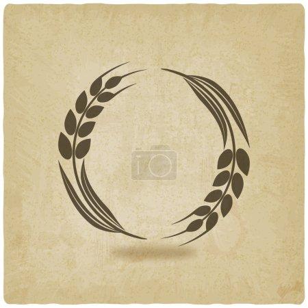 Illustration pour Vieux fond de blé illustration vectorielle. eps 10 - image libre de droit
